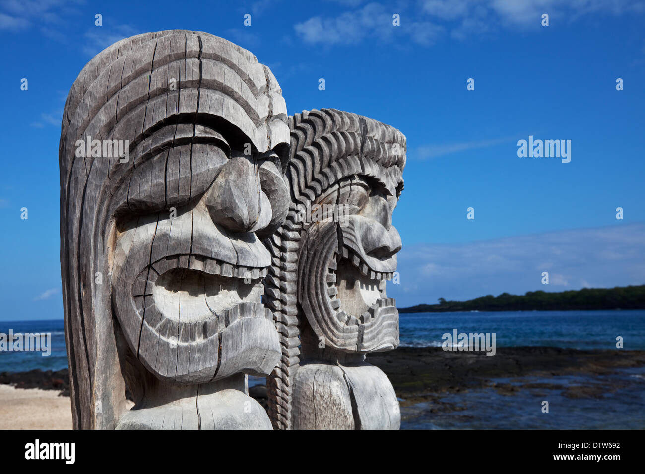 Hawaiian tiki - Stock Image