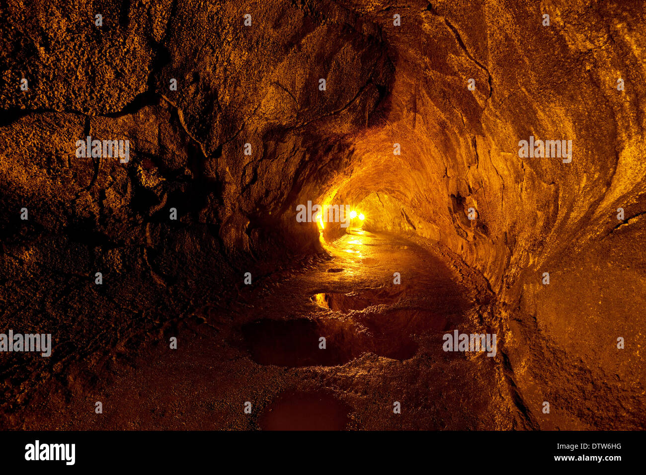 Lava tube Stock Photo