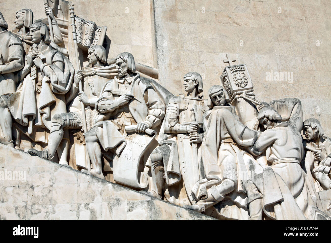 Padrão dos Descobrimentos, a monument in honor of the Portuguese Age of Discoveries during the 15th and 16th centuries, Lisbon. - Stock Image