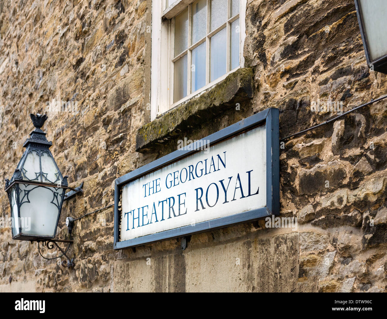 Exterior of the historic Georgian Theatre Royal, Richmond, North Yorkshire, Yorkshire Dales, England, UK, - Stock Image