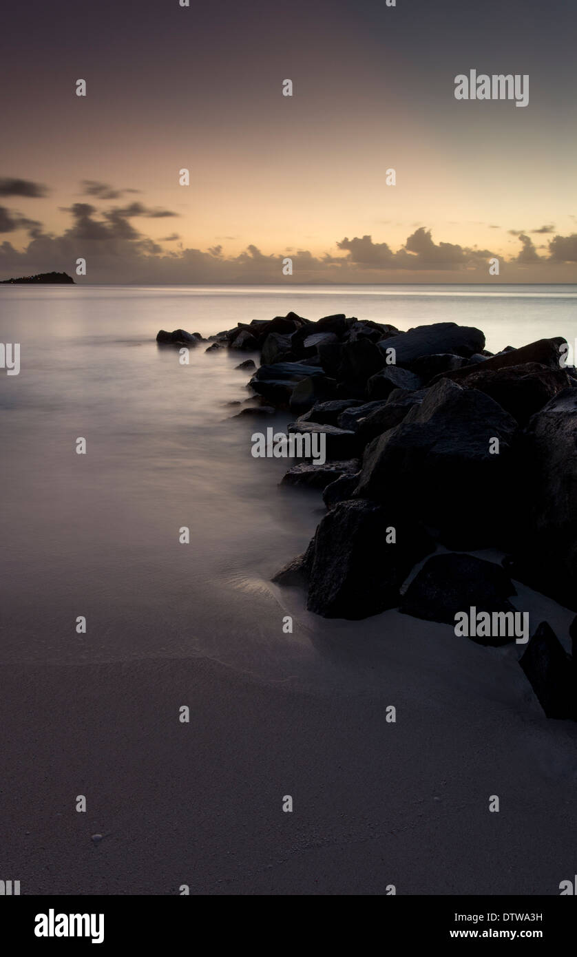 Sunset, Jolly Beach,Antigua - Stock Image