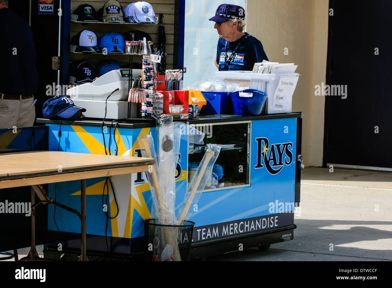 detailed look 54290 07038 Tampa Bay Rays Souvenir Merchandise Vendor at Spring ...