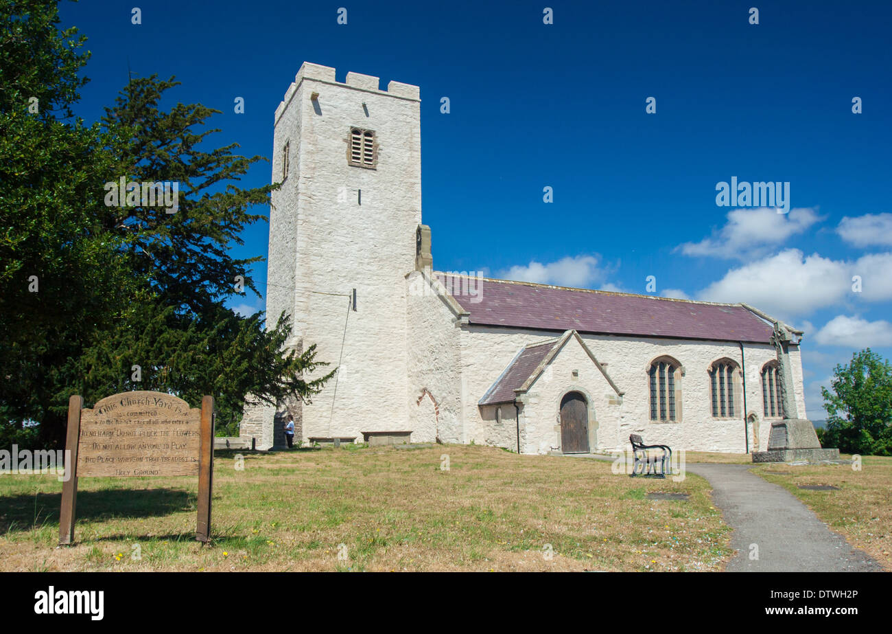 St Marcella's Church set in the Vale of Clwyd, North Wales, less than one mile from the town of Denbigh. - Stock Image