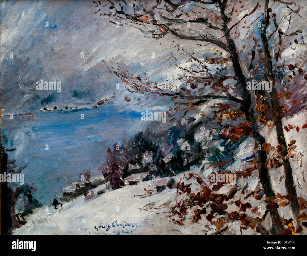Walchensee im Winter 1923 LOVIS CORINTH (1858-1925) German Germany - Stock Image
