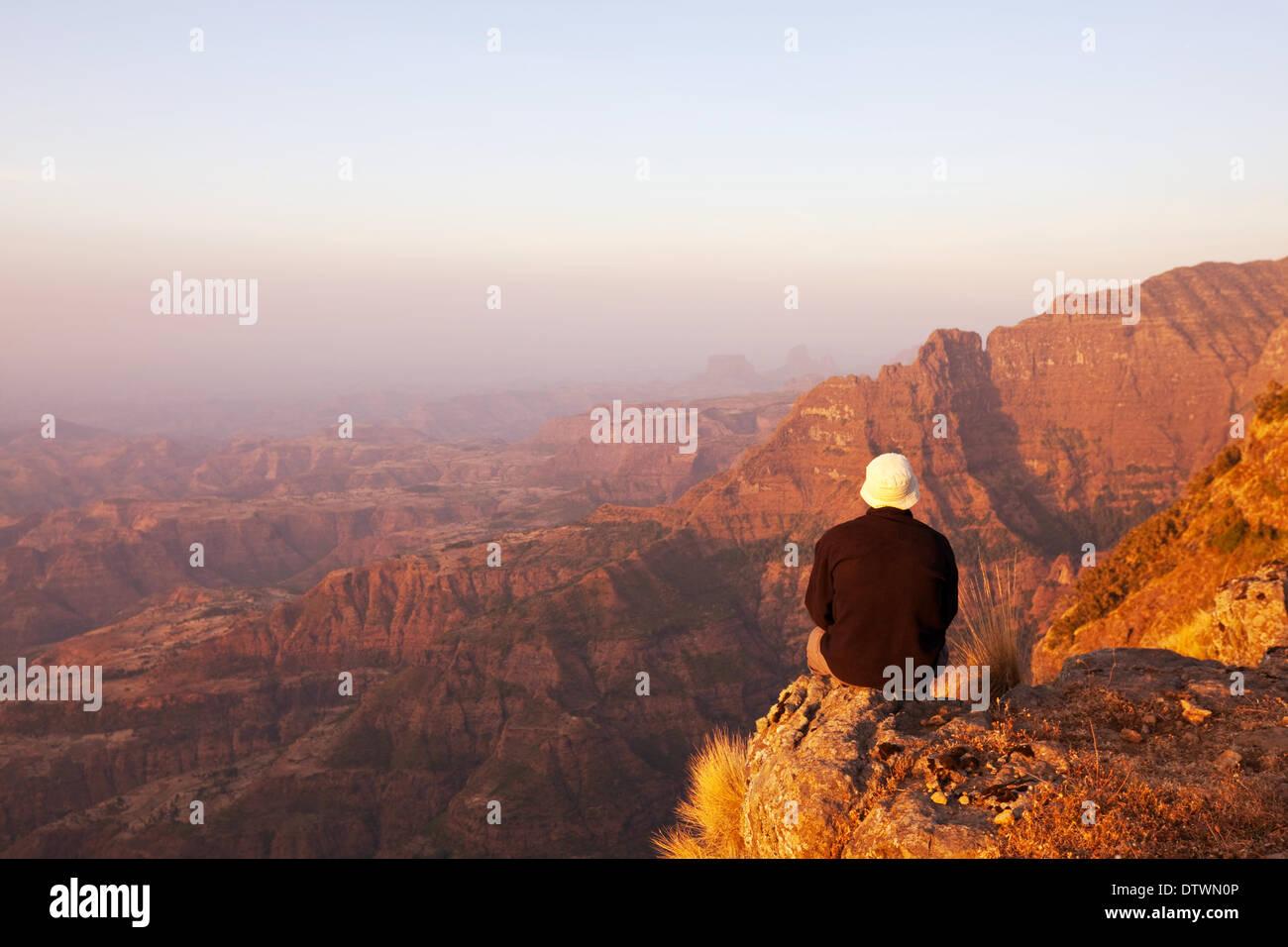 Ethiopian mountains - Stock Image