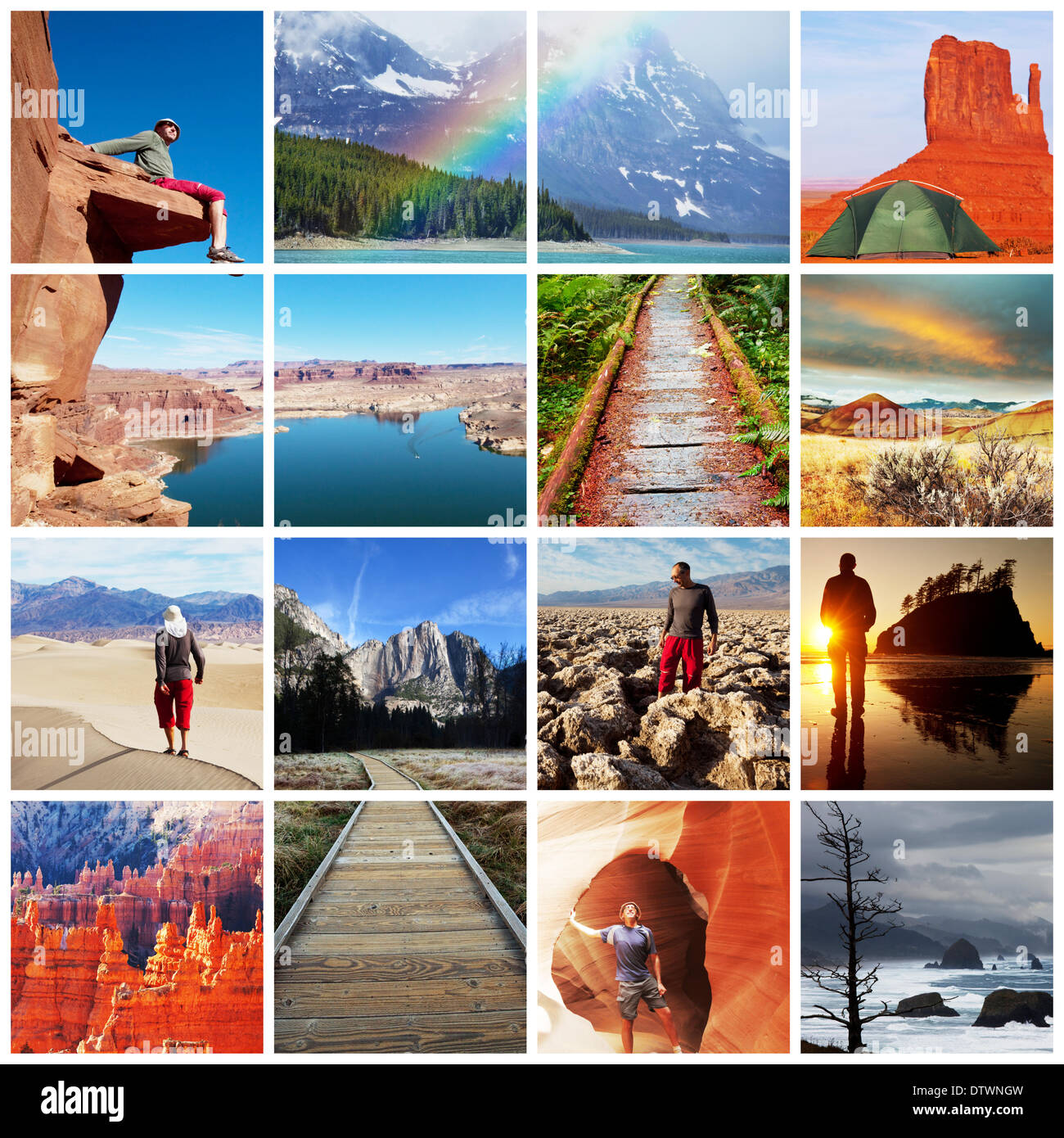 Hike collage - Stock Image