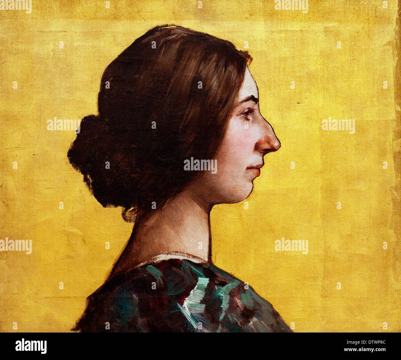 Elsa Koeberle 1898 Lothar von Seebach 1853-1930 German French - Stock Image