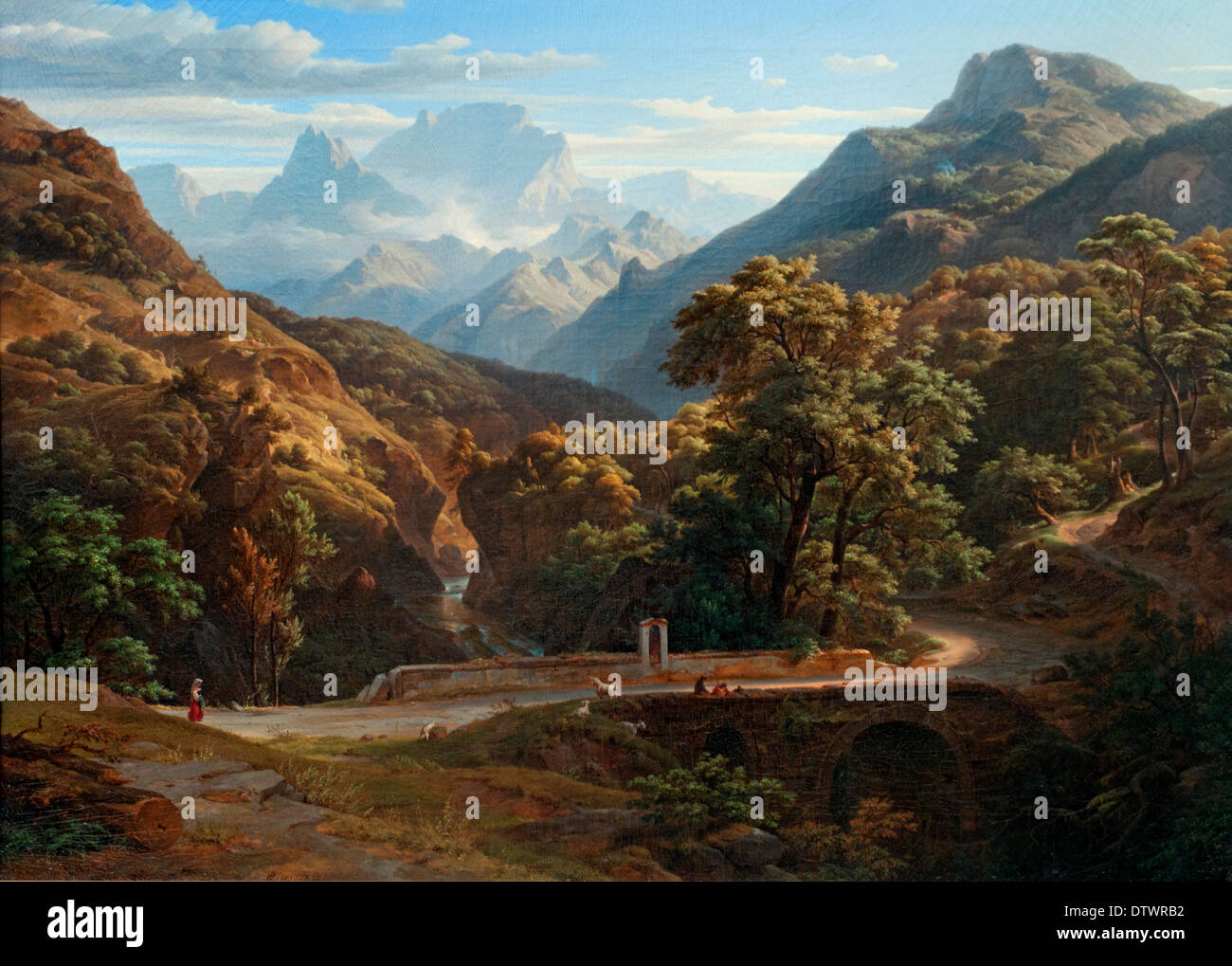 Mountainscape 1832  Ernst Fries 1801-1833 German Germany - Stock Image