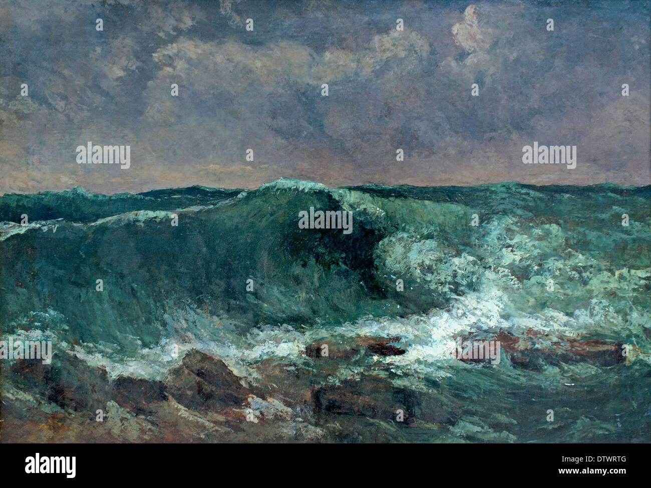 The Wave 1869 Jean Désiré Gustave Courbet 1819 – 1877 French France - Stock Image