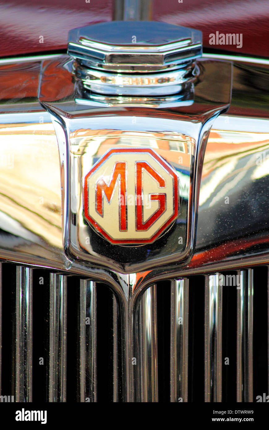 Close Up Mg Vintage Car Logo England Uk Stock Photo 66950389 Alamy