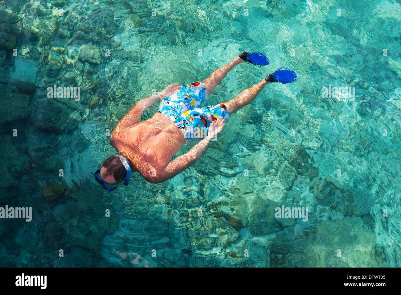 Snorkeling - Stock Image