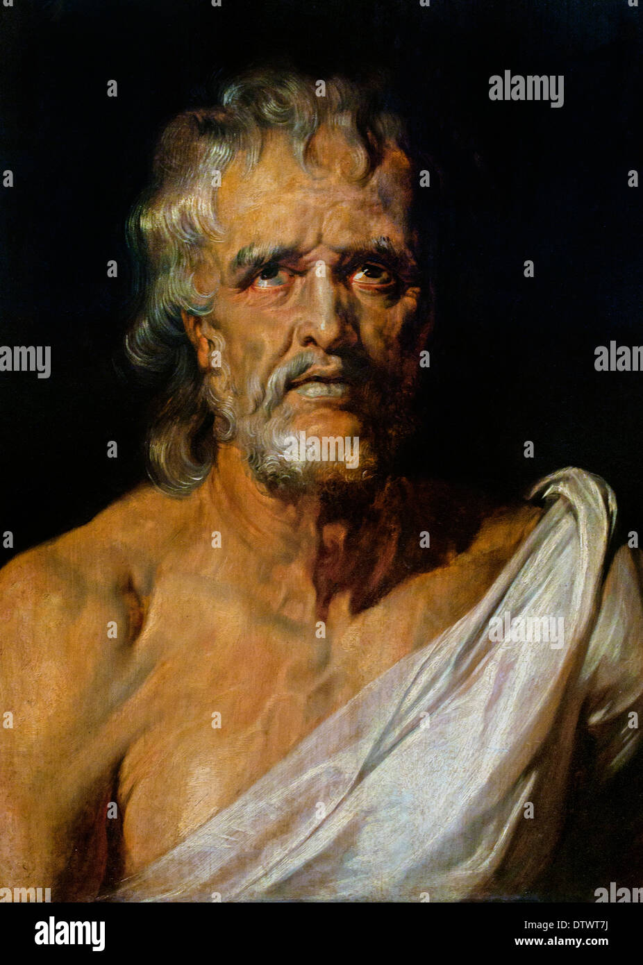 Half-length portrait of the philosopher Seneca by Peter Paul Rubens 1577 - 1640 Flemish Belgian Belgium - Stock Image