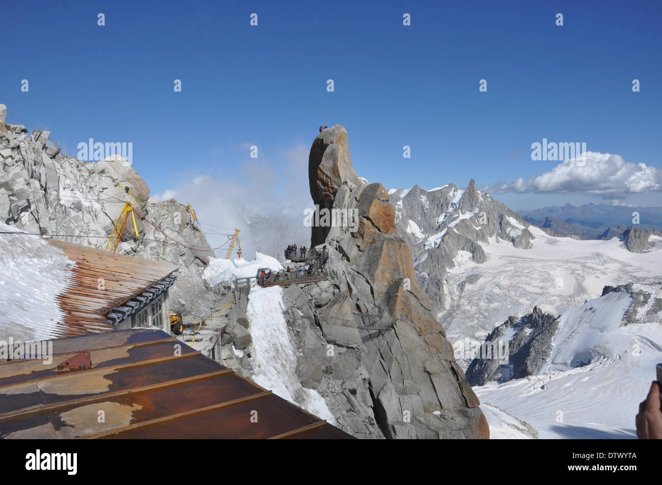 view from aiguille du midi,france - Stock Image