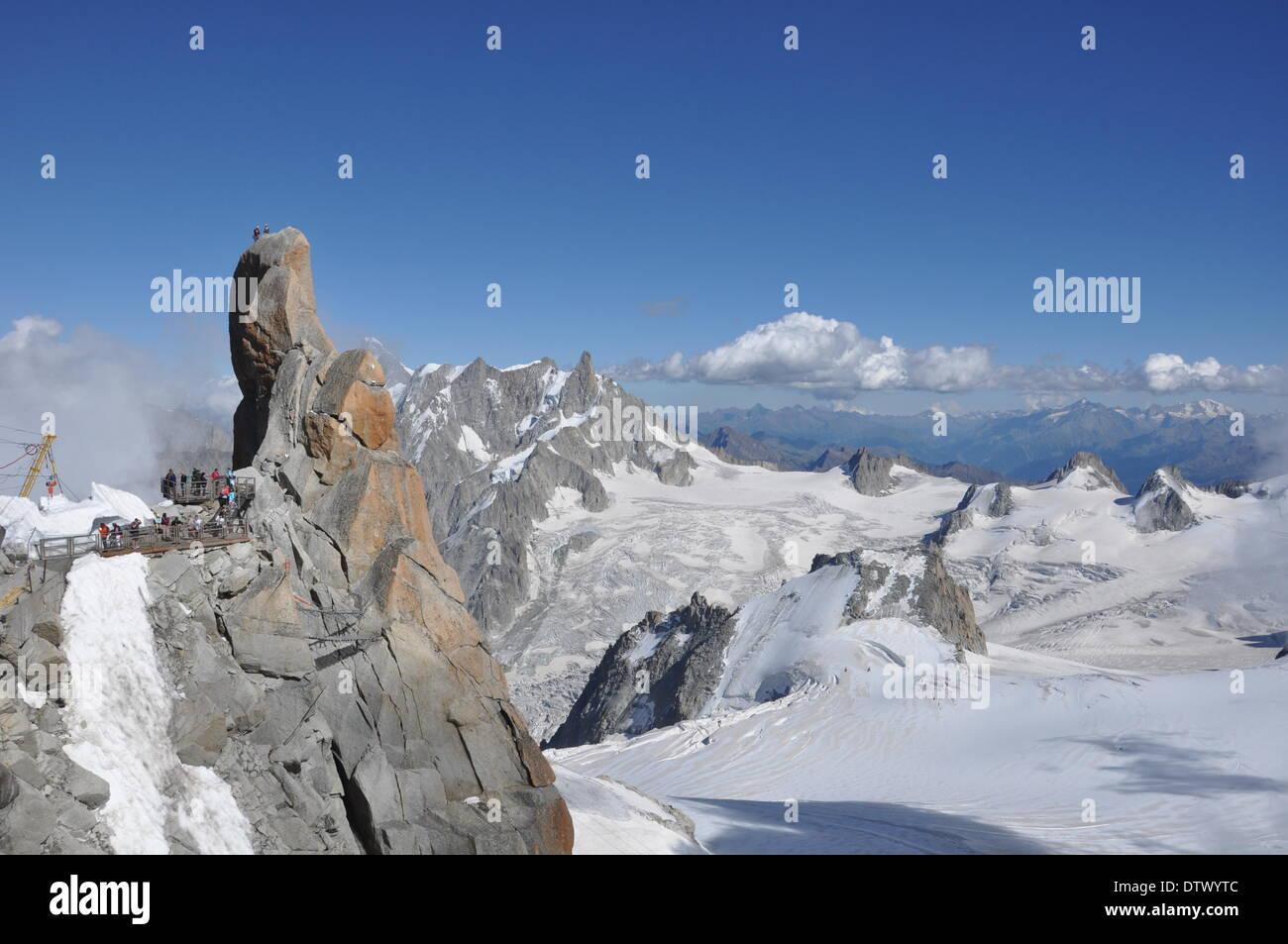 aiguille du midi,french alps - Stock Image