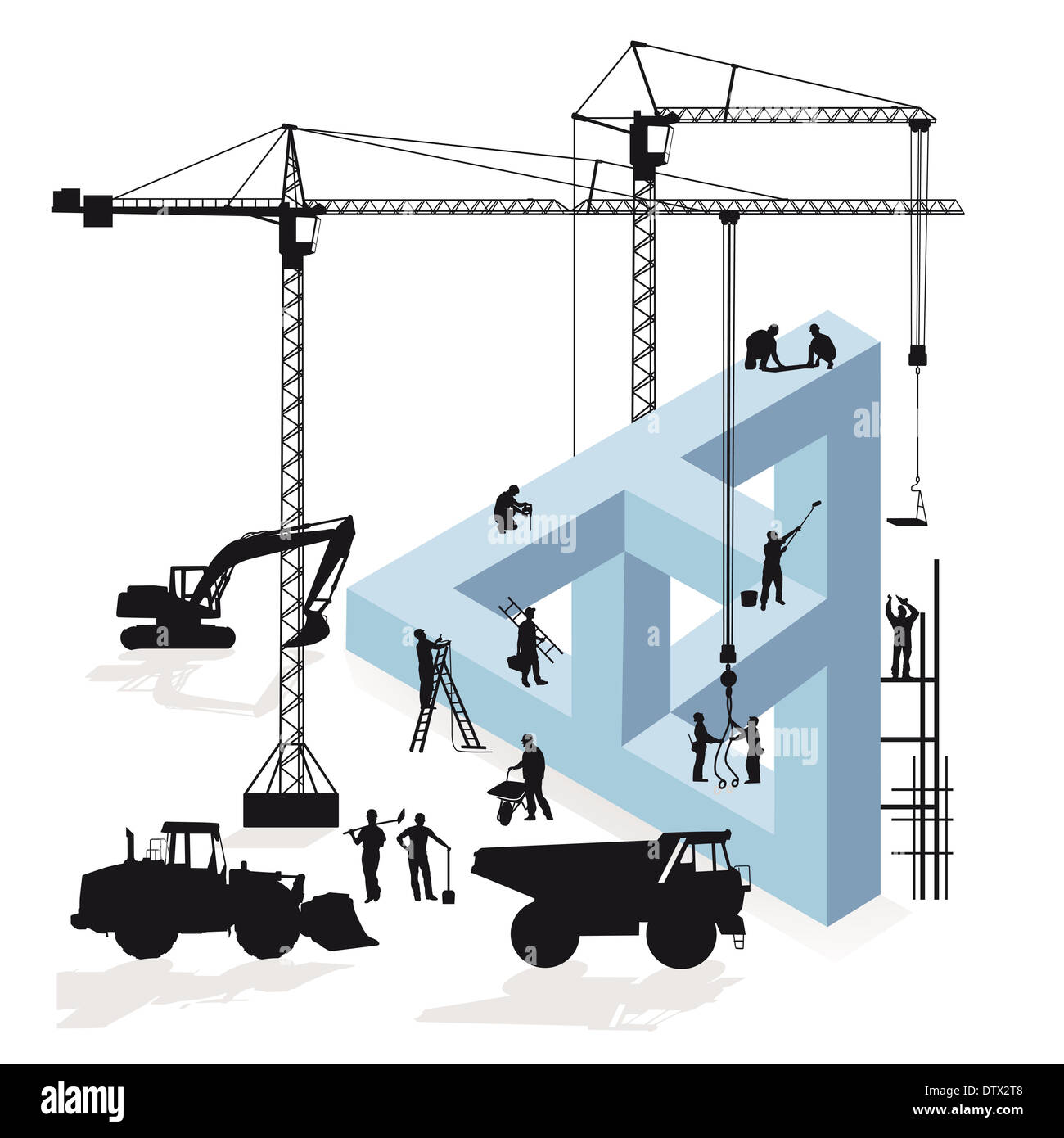 Magination Construction - Stock Image
