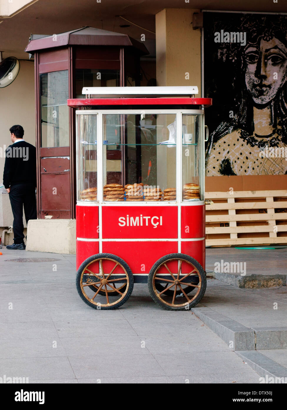 Simit stand, Turkey - Stock Image