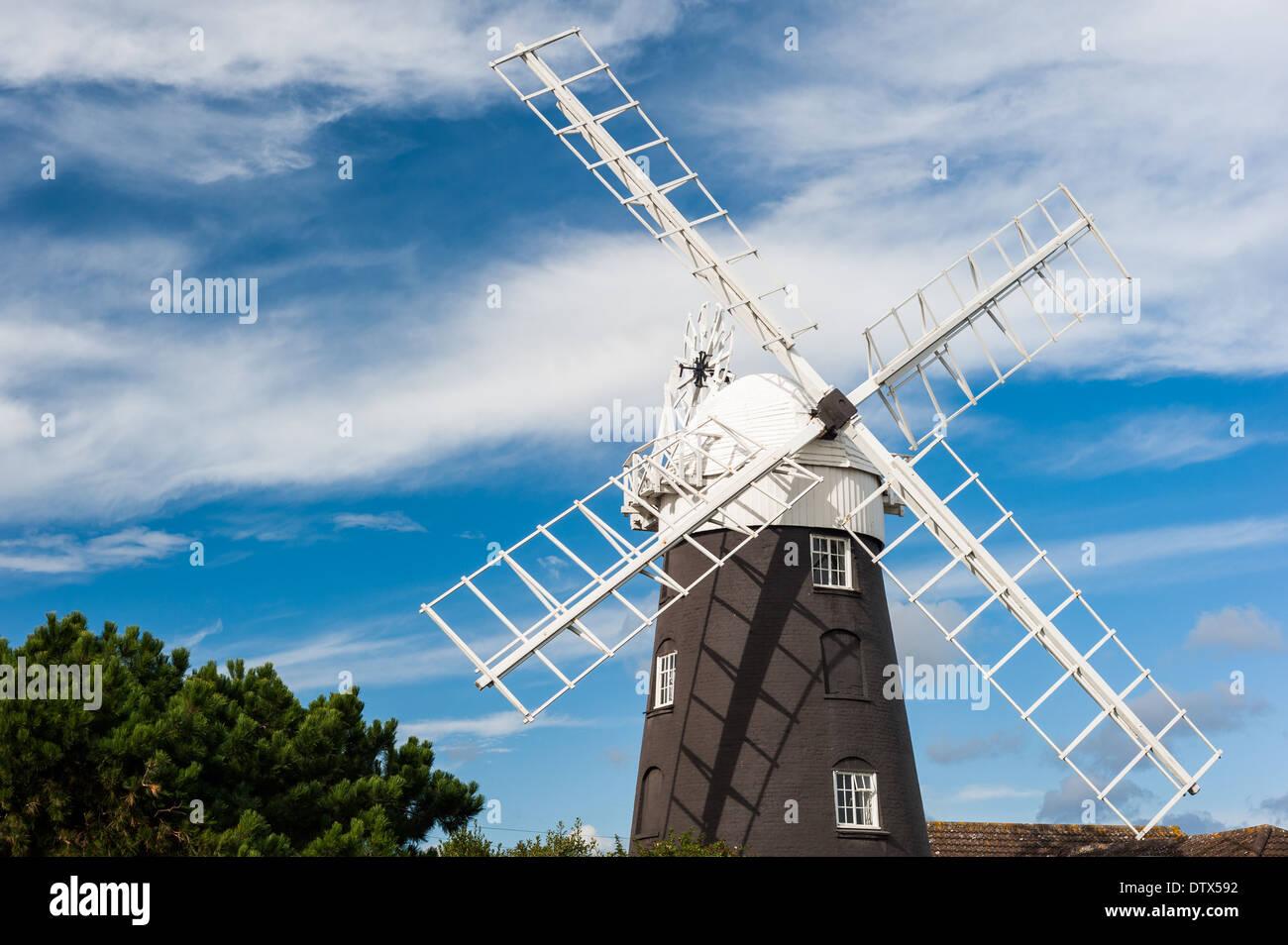 Stow windmill, Paston, Norfolk. - Stock Image