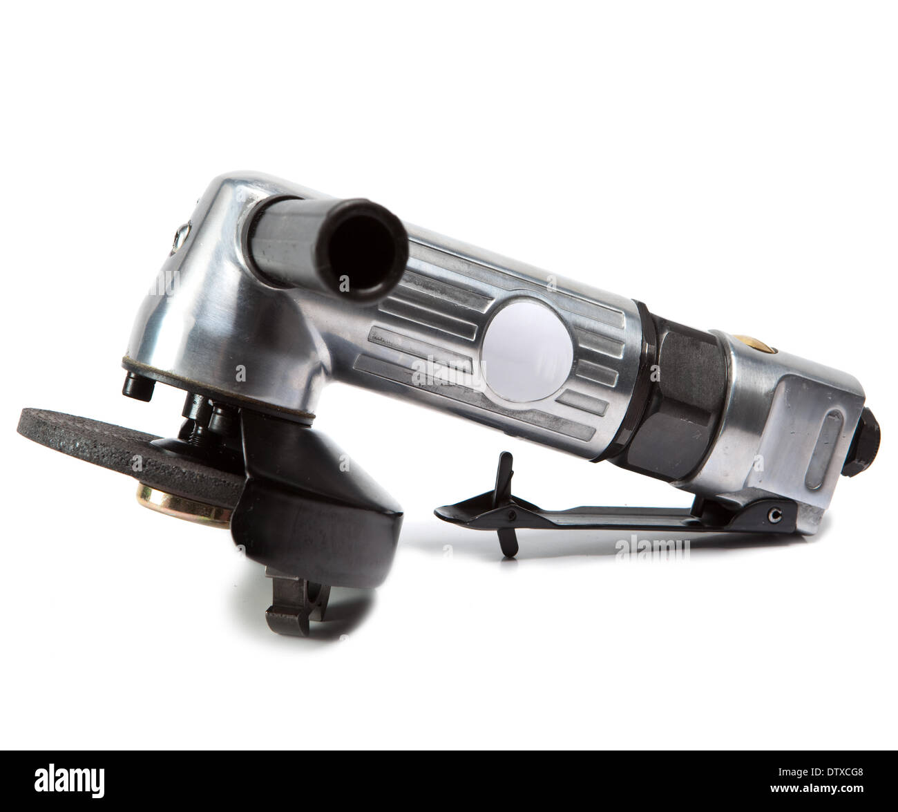 air angle grinder on white background Stock Photo