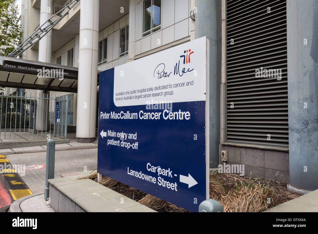 Peter MacCallum Cancer Centre sign and entrance - Stock Image