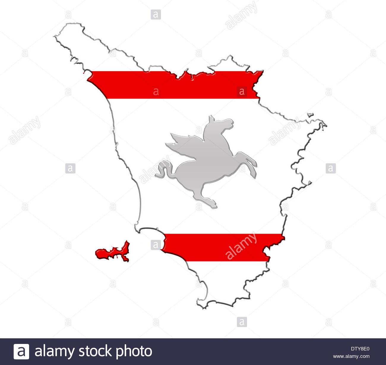 Italy Tuscany flag map banner Toscana Stock Photo: 66982216 - Alamy