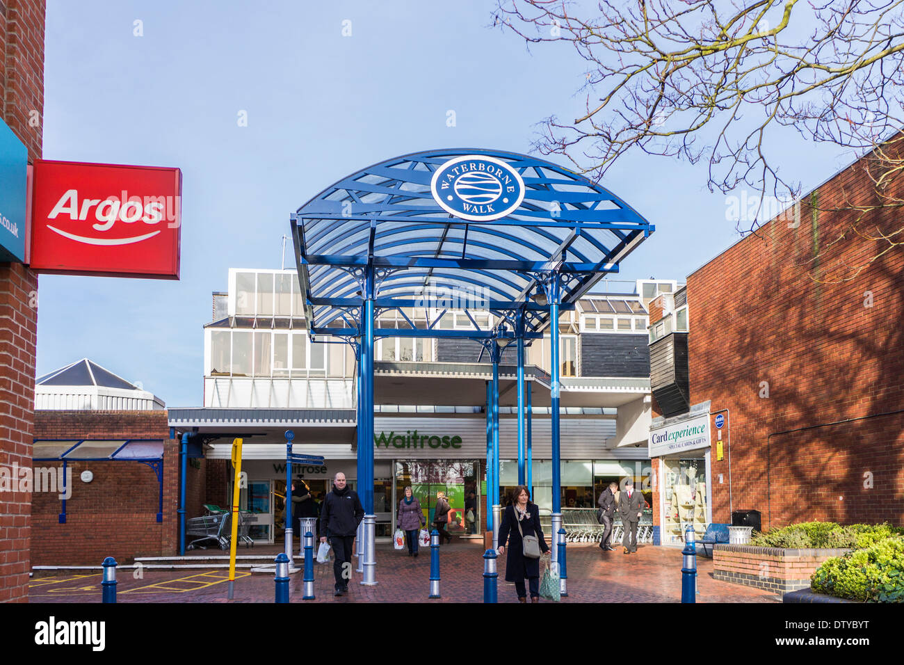 Waterborne Walk shopping centre - Leighton Buzzard - Stock Image