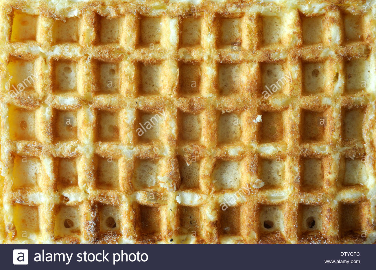 Belgian waffle close-up. - Stock Image