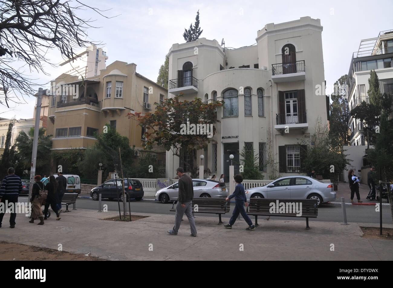 Israel, Tel Aviv, Rothschild Boulevard - Stock Image