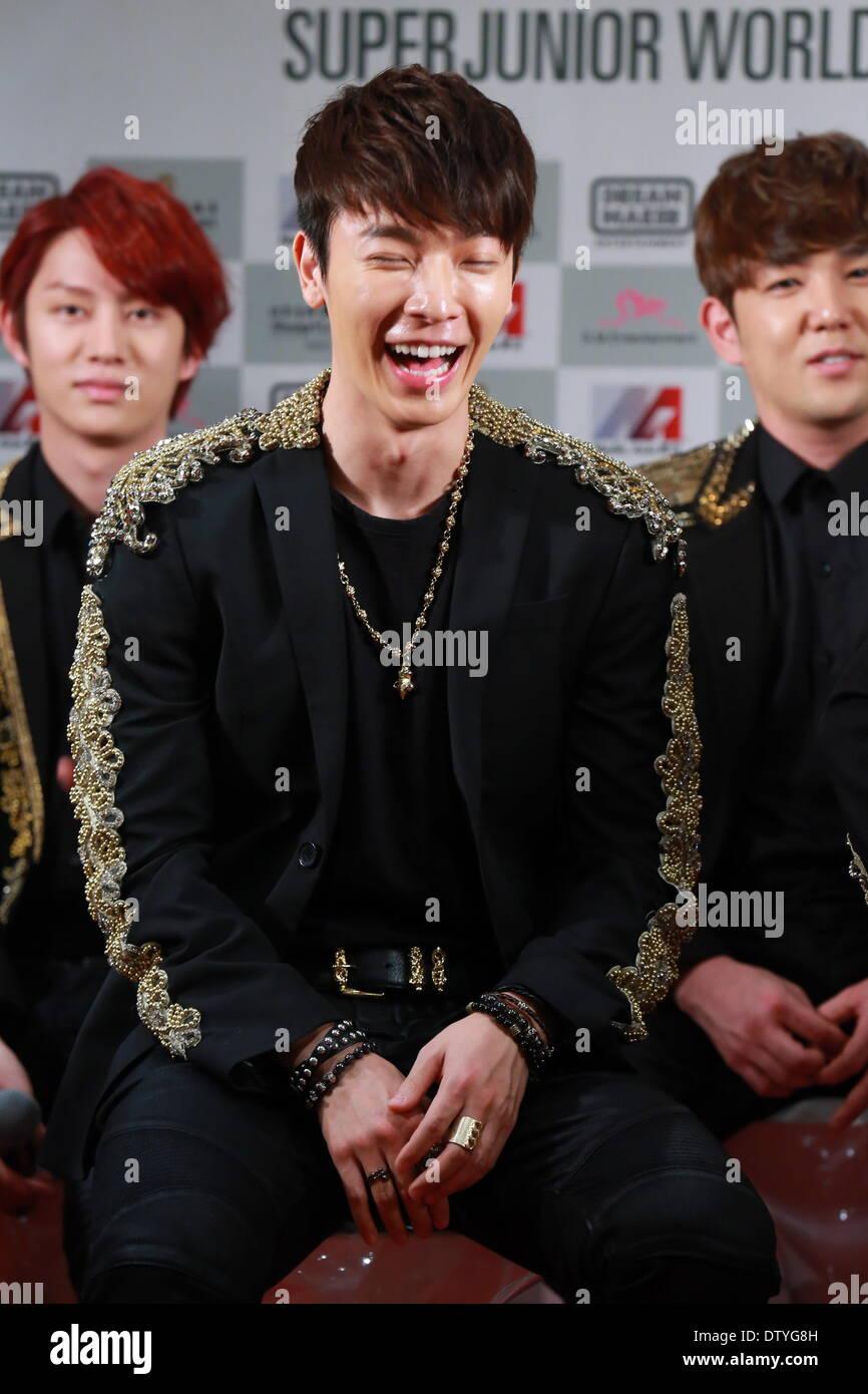 South Korean boy band Super Junior attend SUPER SHOW 5 press