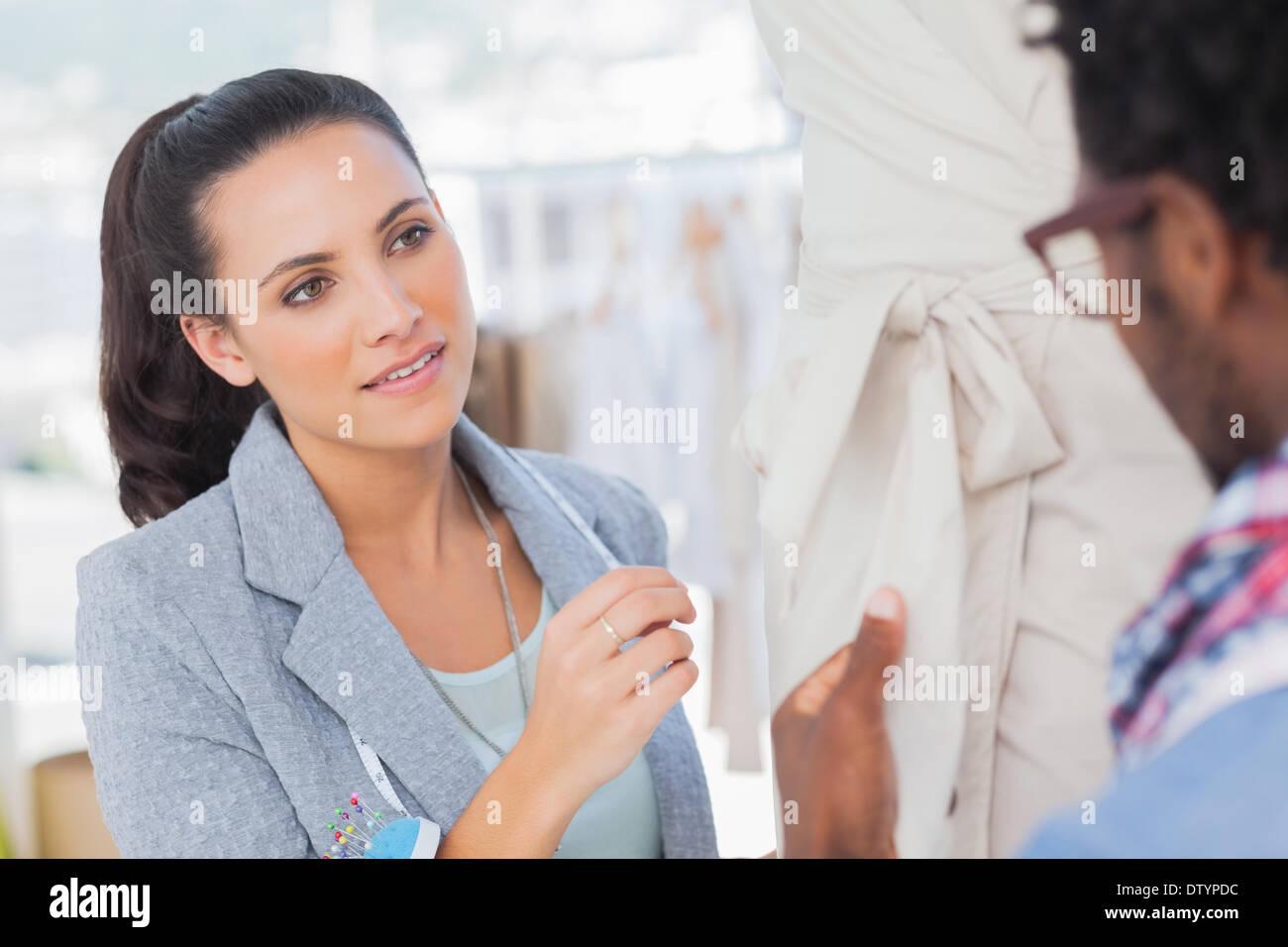 Fashion designers speaking - Stock Image