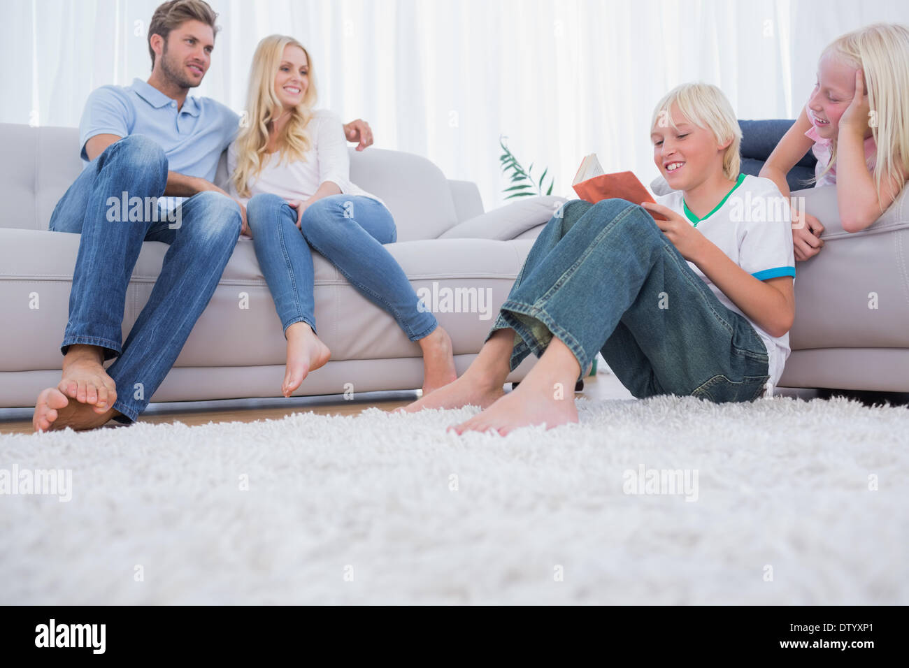 Family spending time together - Stock Image