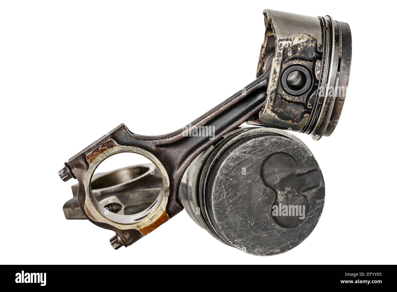 Two pistons and connecting rods Stock Photo