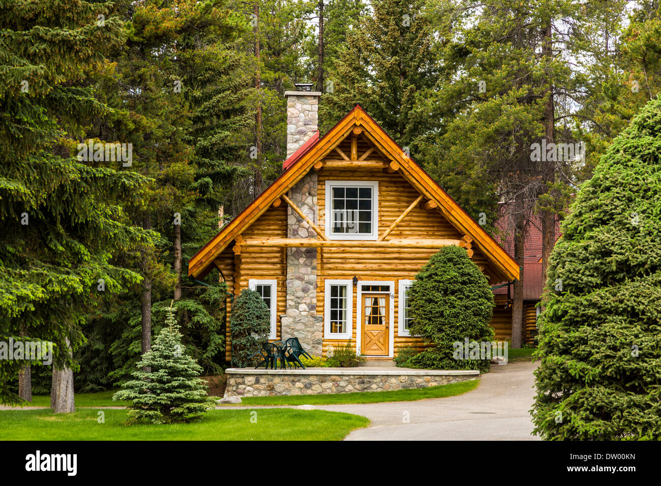 A cottage in the woods at the alpine village resort in for The alpine lodge