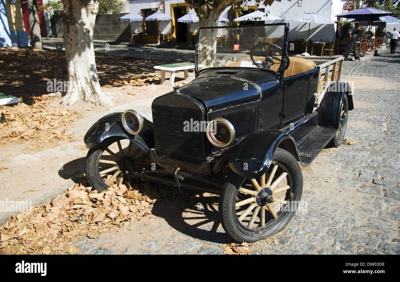 Vintage car in Colonia del Sacramento, Uruguay - Stock Image