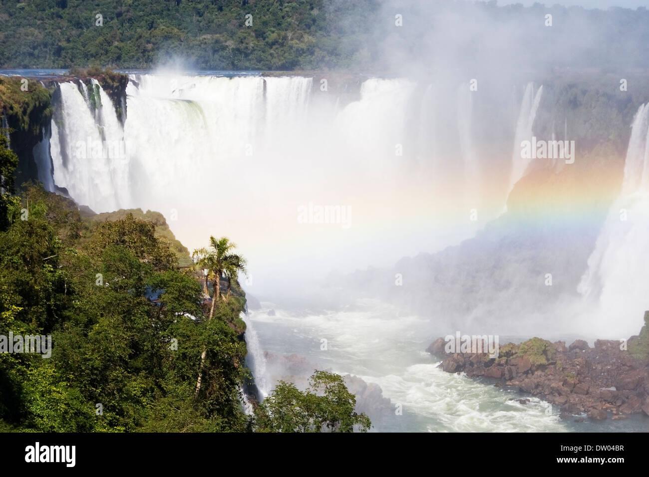 Iguazu falls, misiones, argentine - Stock Image