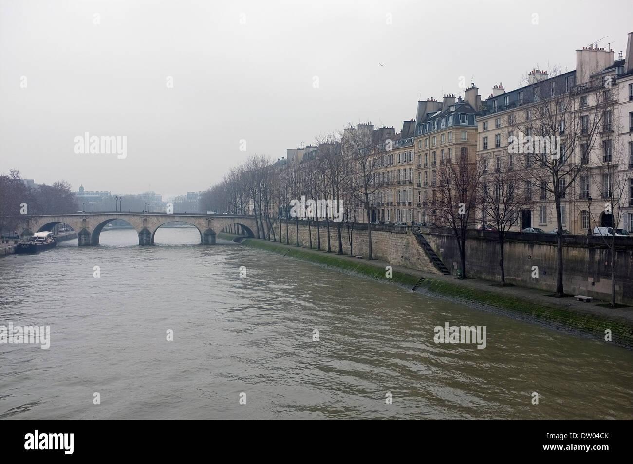 River Seine, Paris, Banks of The Seine, France - Stock Image