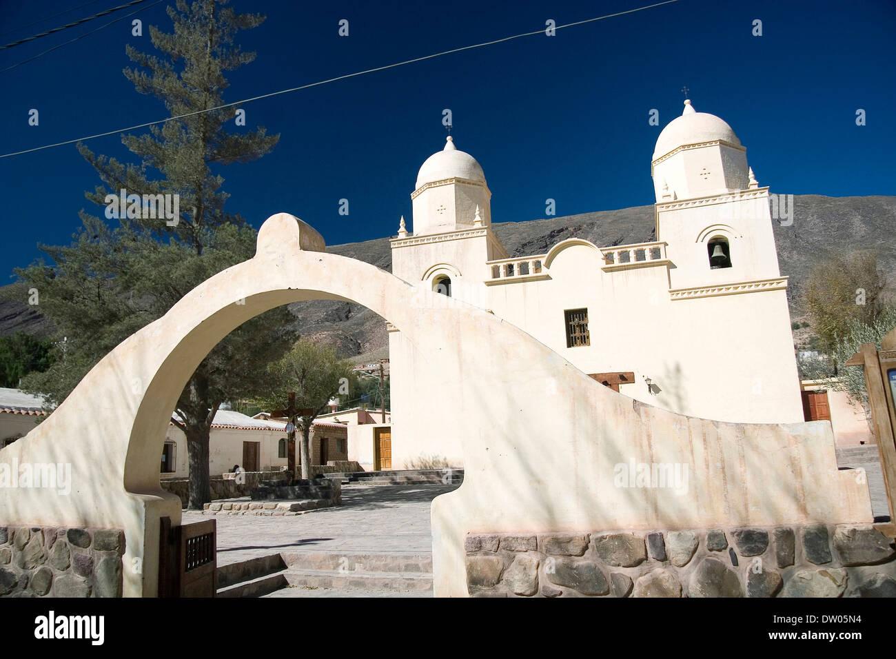 Tilcara church, Quebrada de Humahuaca, Jujuy, Argentine - Stock Image