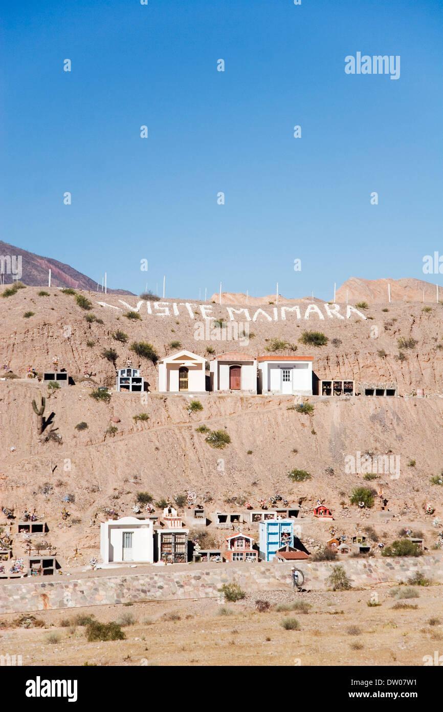 Maimara cemetery, Quebrada de Humahuaca, Jujuy, Argentine - Stock Image