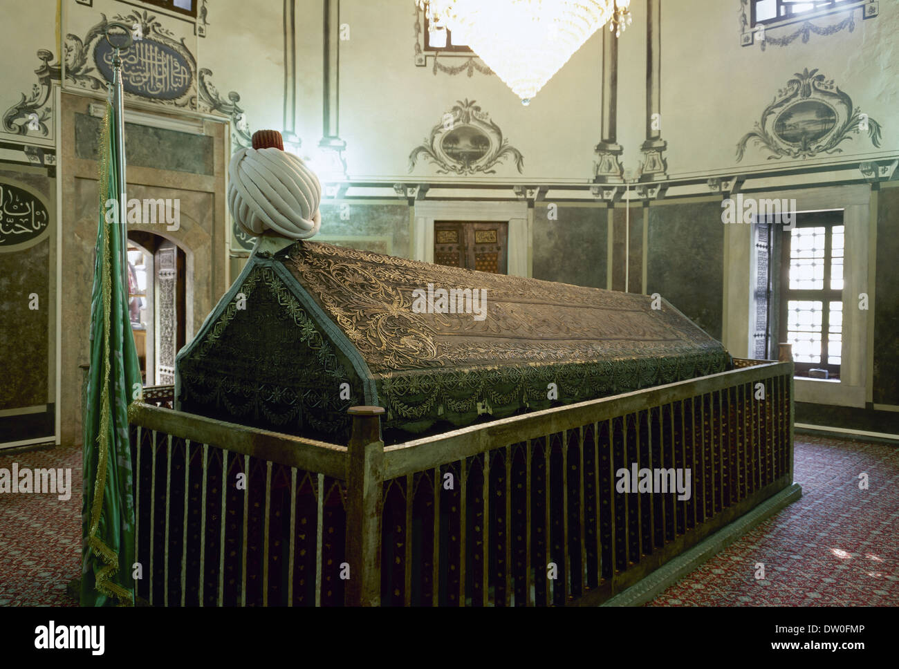 Tomb of Sultan Bayezid II or Bayezed-i-Veli (1447-1512). House of Osman.  Bayezid II Mosque. Istanbul. Turkey.