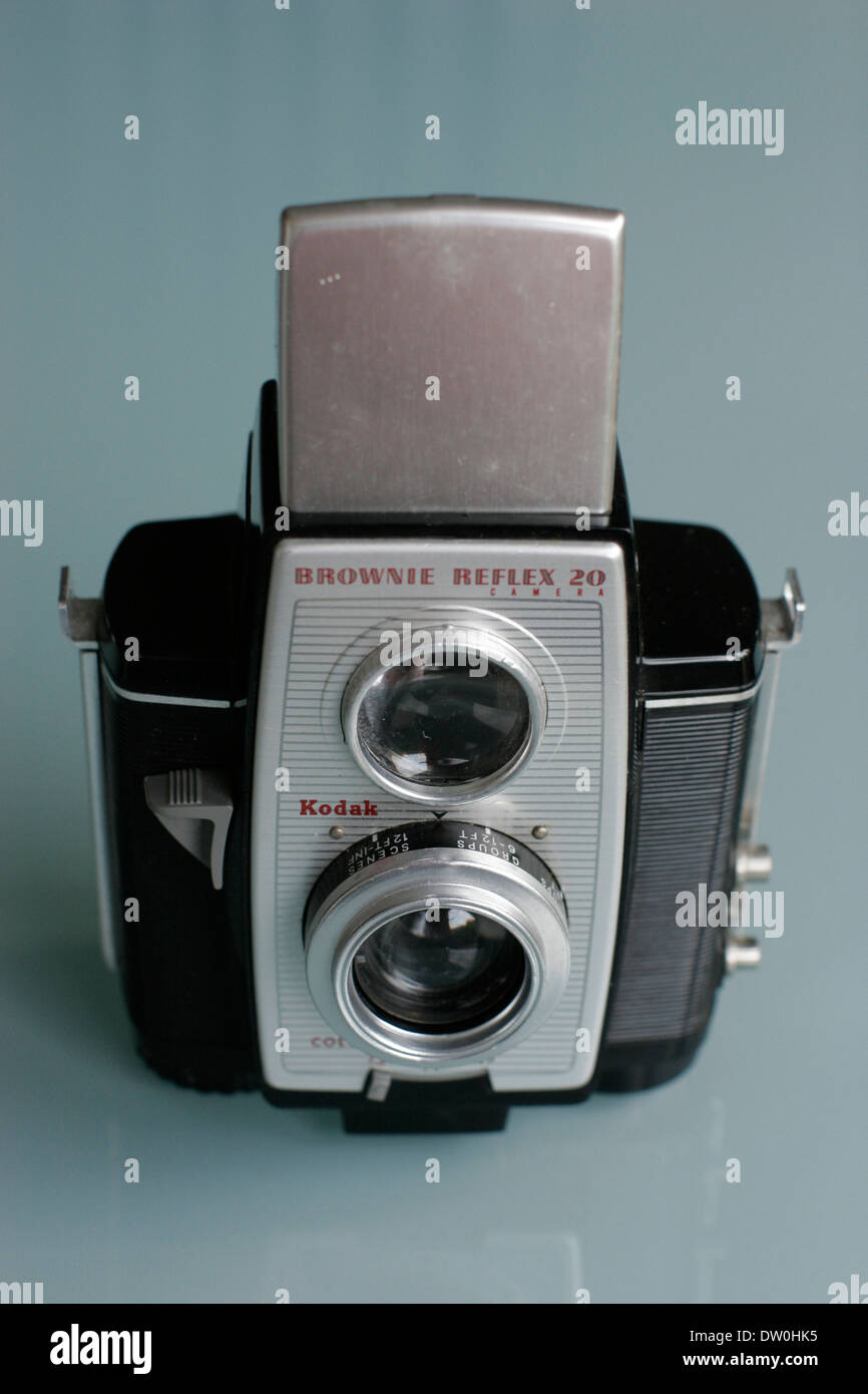 Kodak camera brownie reflex 20 Stock Photo