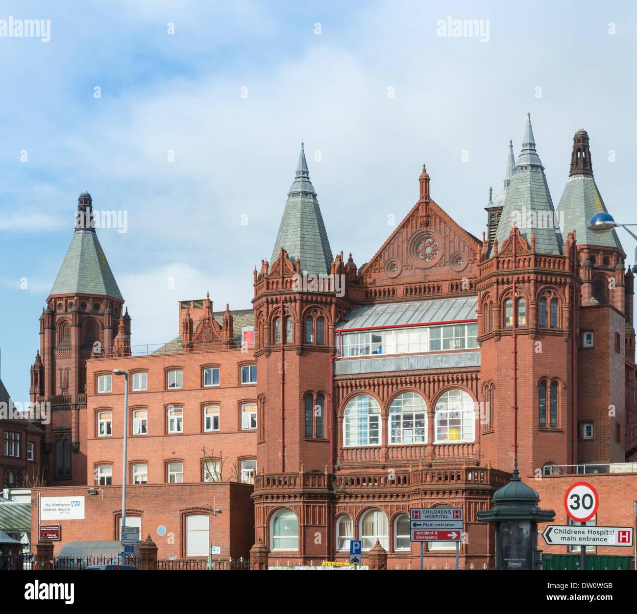 Birmingham Childrens Hospital, City Centre. - Stock Image
