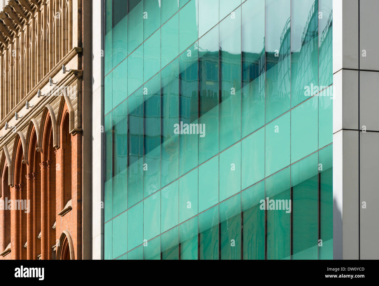 Architectural abstract of city centre offices, Edmund Street, Birmingham, England - Stock Image