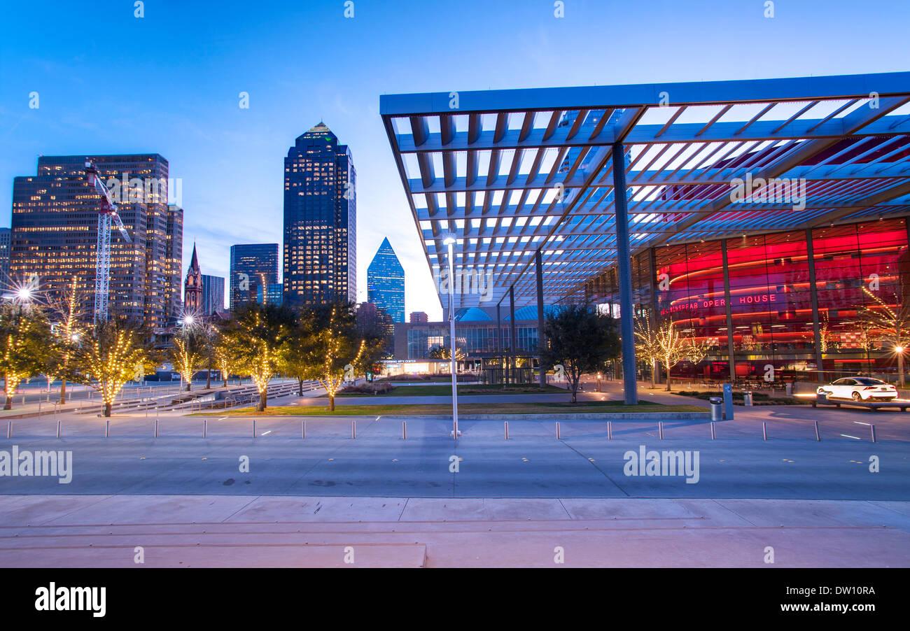 Performing Arts Center in Dallas, Texas - Stock Image