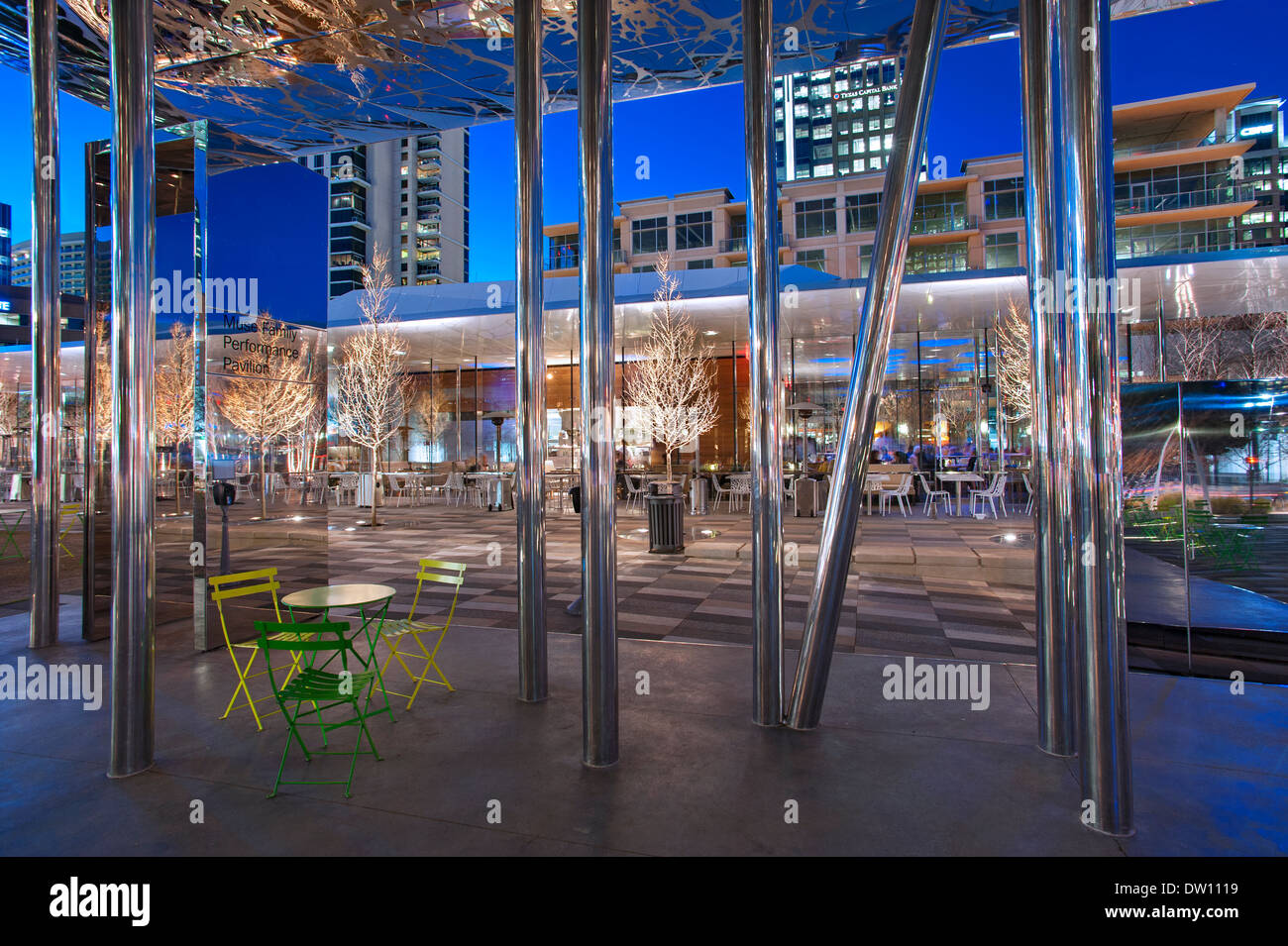 Klyde Warren Park, Dallas, Texas - Stock Image