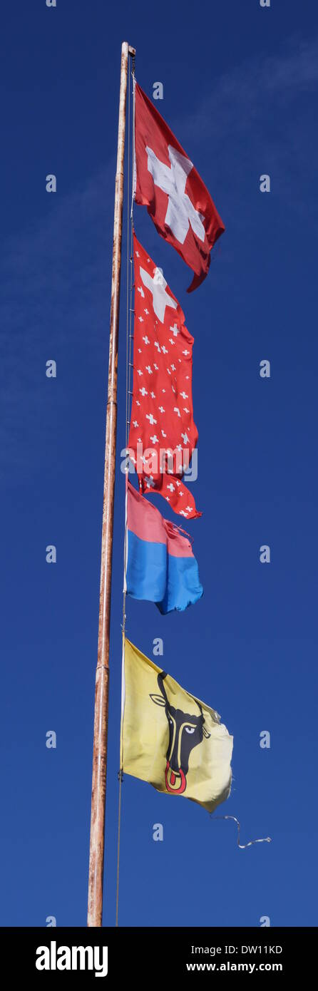 flagpole switzerland - Stock Image