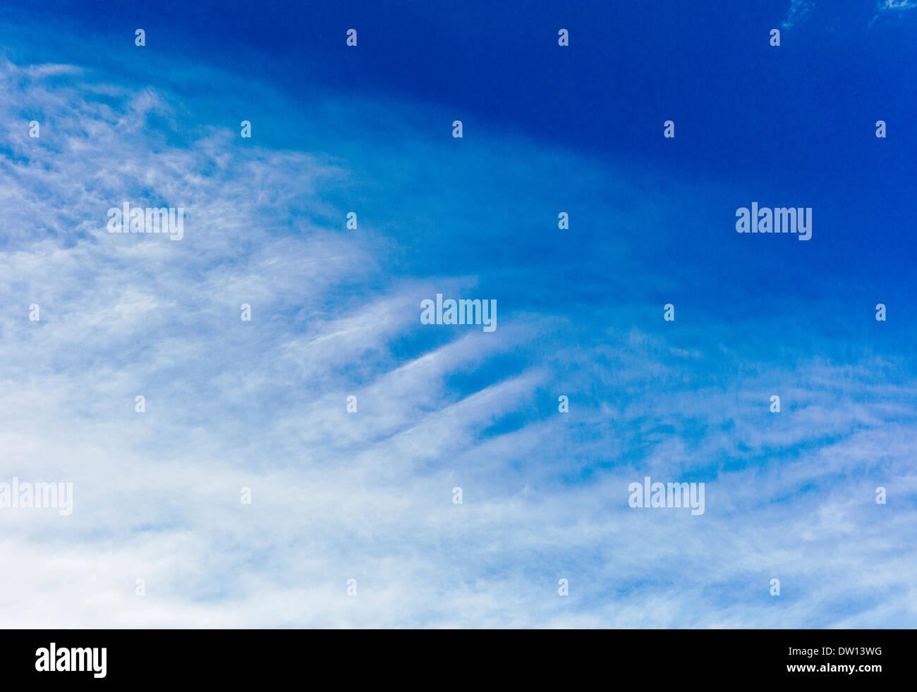 Unusual cloud formations in Colorado, USA - Stock Image