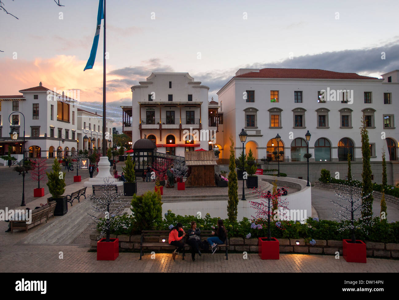 Paseo Cayalá, Guatemala City - Stock Image