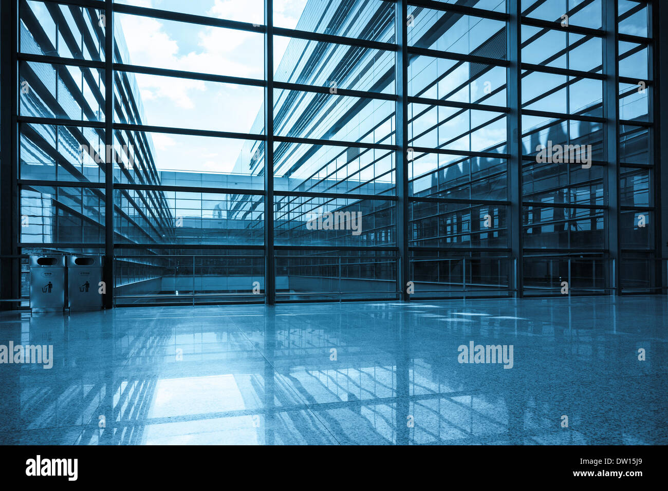bright window and glass curtain wall Stock Photo