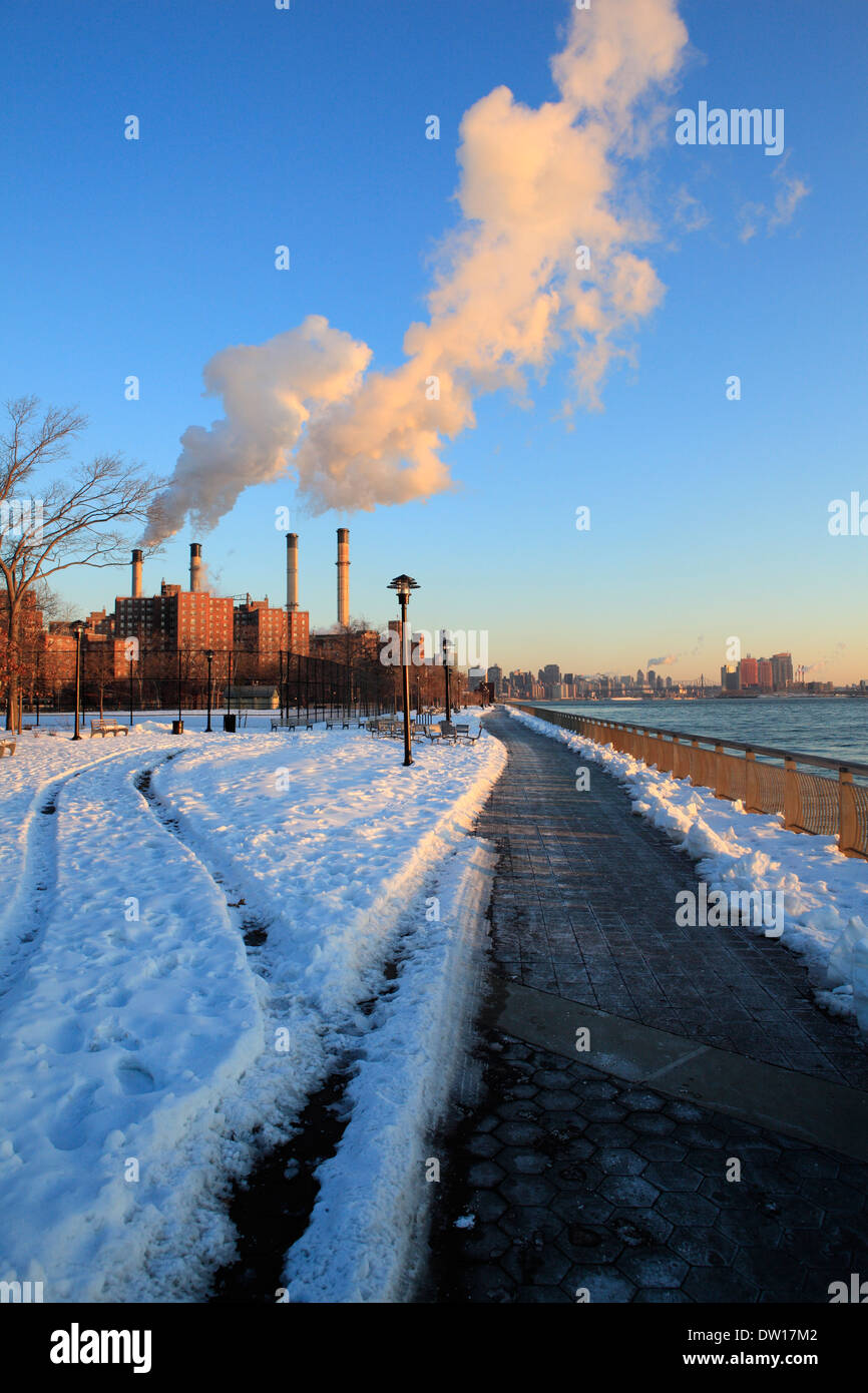 East 14TH street power plant - Stock Image