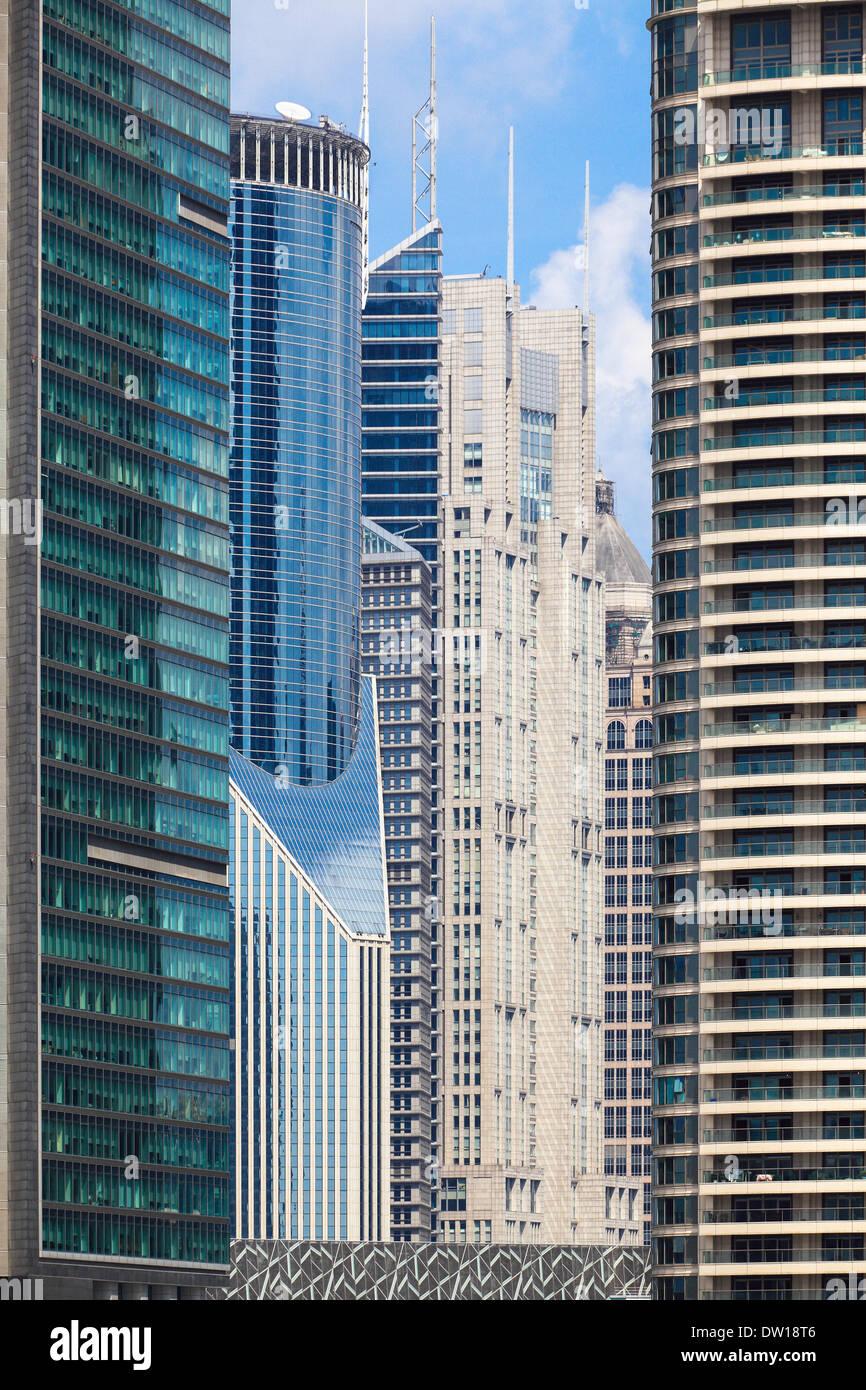 modern banking buildings - Stock Image