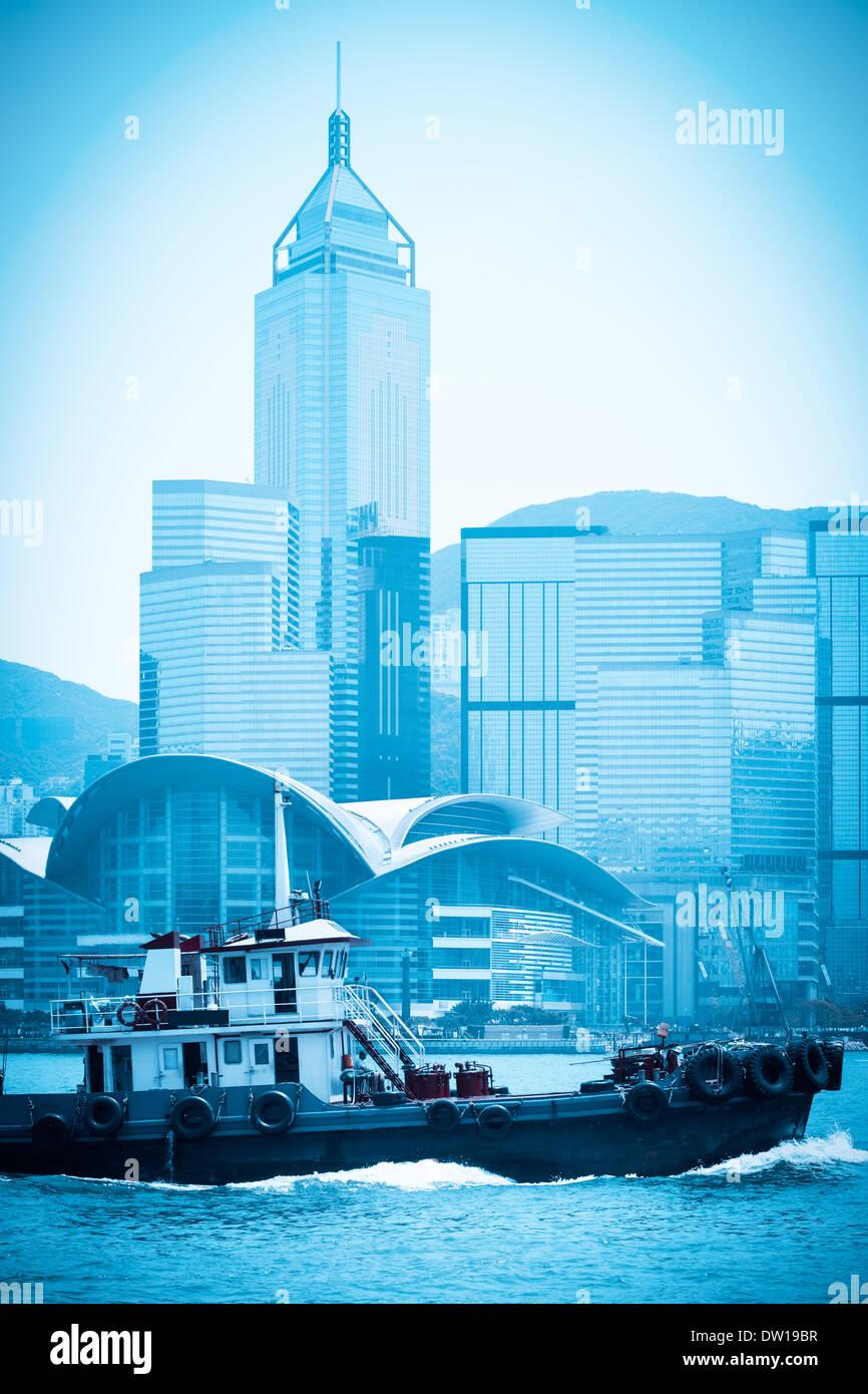 modern cityscape in hongkong - Stock Image